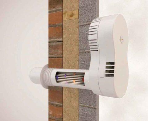 Вытяжной вентилятор встене