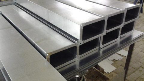 Воздуховоды изоцинкованной стали