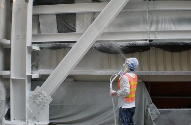 обработка металлоконструкций огнезащитными красками