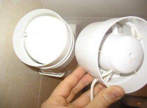 вытяжной вентилятор с обратным клапаном