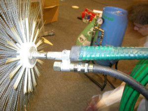 щеточная машина для чистки вентканалов