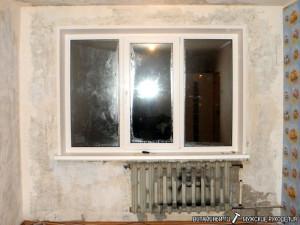 Конденсат на окне.