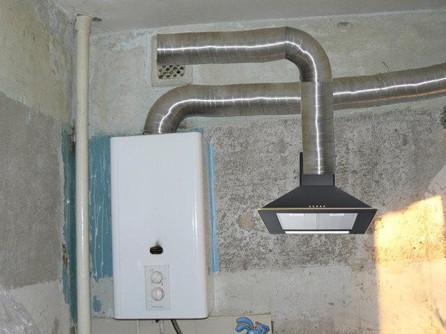 схема вентиляции газового котла в частном доме