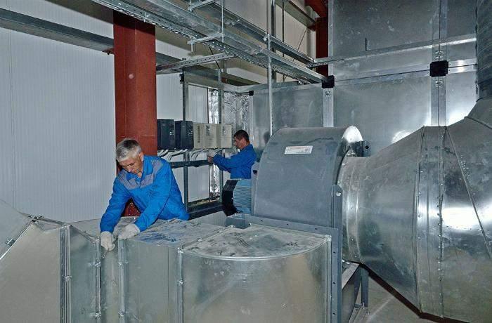 Монтаж промышленных вентиляционных систем