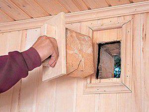 Заглушка приточного канала вентиляции в деревянном доме