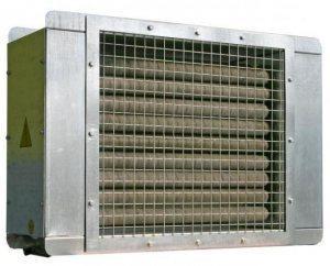 На фото - отечественный электрокалорифер ЭКО.