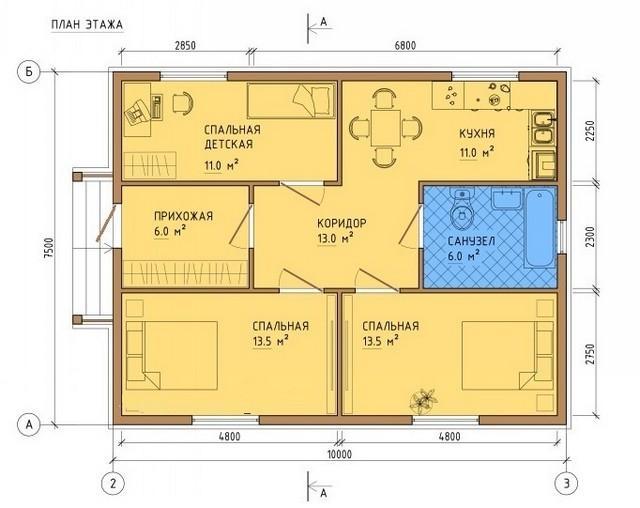 План здания для примера.