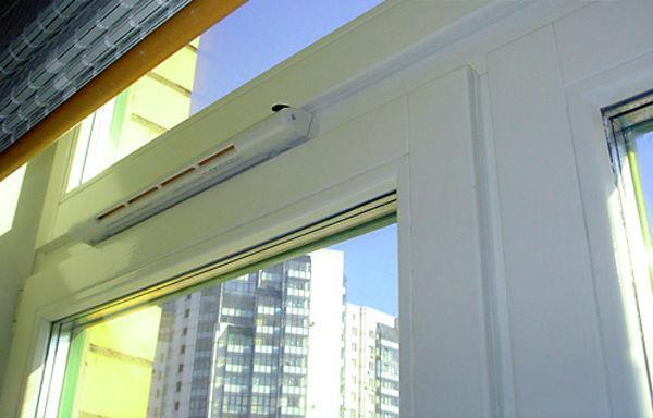 Приточный клапан на балконе