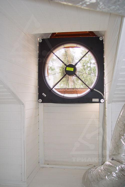 В простейшем случае для вентиляции помещений коттеджа можно применять вытяжные вентиляторы
