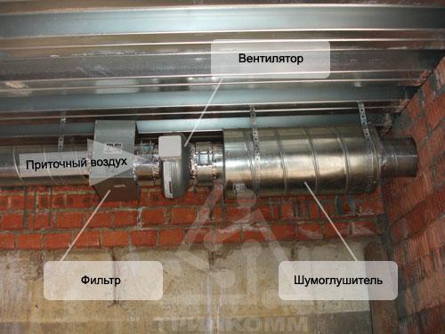 Типовой пример монтажа приточной вентиляции в коттедже