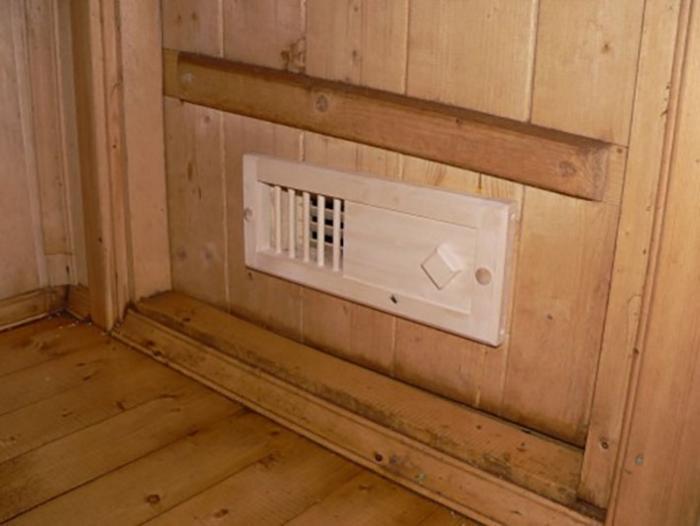 Вентиляционное отверстие в бане