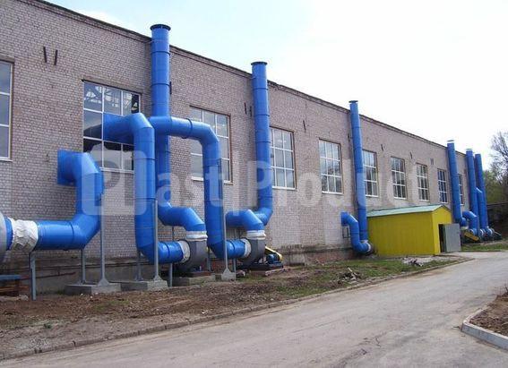 Пластиковая промышленная вентиляция