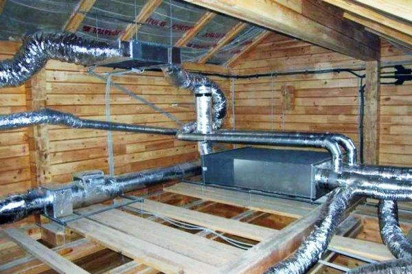 вентиляция в каркасном доме и ее устройство на фото