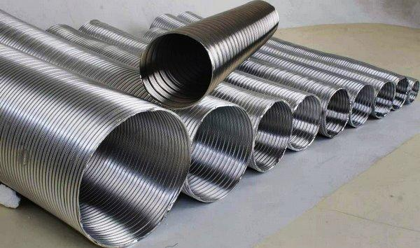 Алюминиевые гофрированные трубы для вентиляции