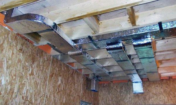 установка коробов для вентиляции в каркасном доме своими руками
