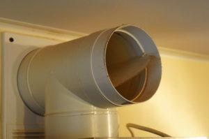 Фото: вентиляционный клапан обратной тяги