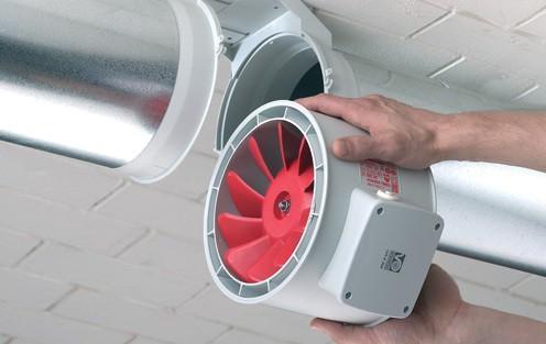 Установка вентилятора в принудительной вентиляции