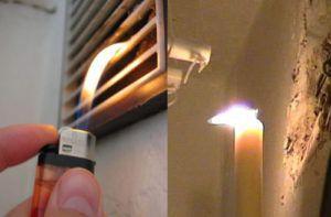 Проверка работы системы вентиляции