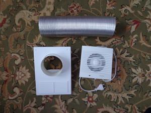 Приточный вентилятор с круглым воздуховодом
