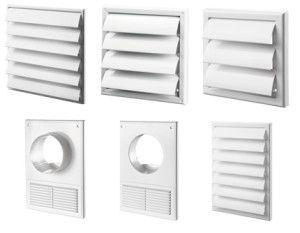 вентиляционные решетки с жалюзи и отводом для кухонной вытяжки