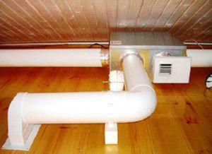 вытяжная вентиляция с пластиковыми воздуховодами