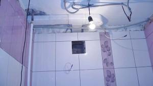 Вытяжное отверстие в ванной комнате