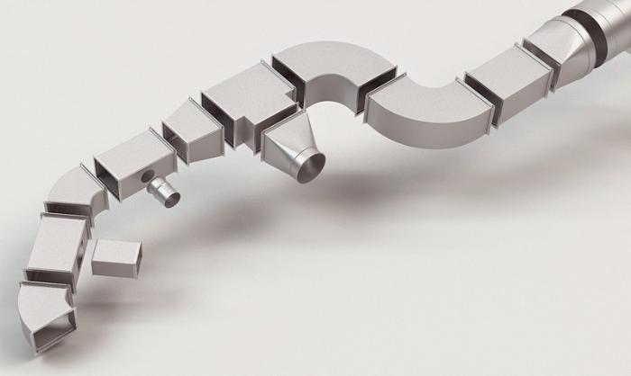 Калькулятор площади воздуховодов