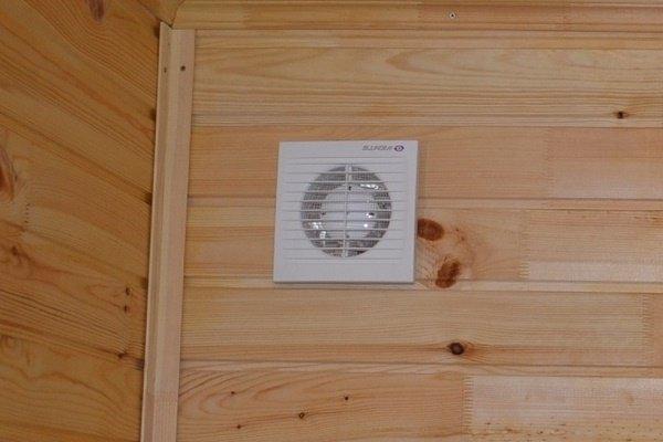 Вытяжной вентилятор в отверстии вентиляции