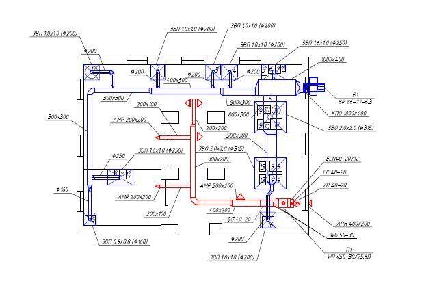 План вентиляции лаборатории