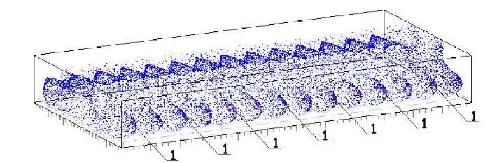 пример полученой картинки в программе halton при проектировании вентиляции ледовой арены. Изометрическая схема