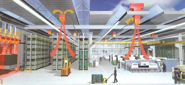 схема производственной вентиляции