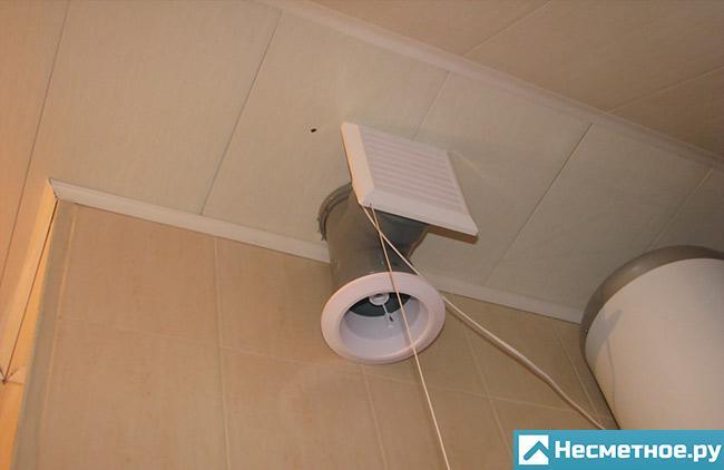 Система вентиляции в санузле