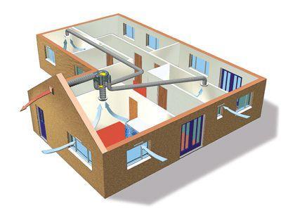 Типовая схема вентиляции квартир