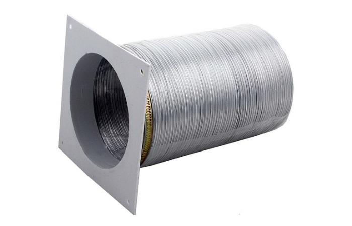 Алюминиевая гофра для вытяжки