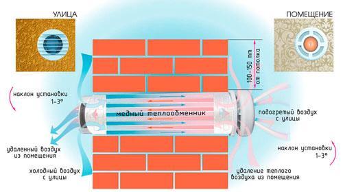 Схема вентиляции в спортзалах
