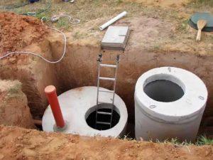 Вентиляция бетонного септика при помощи трубы
