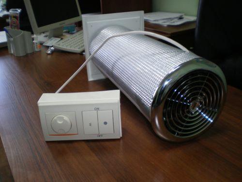 Типовое устройство приточного типа, которое монтируется в стену смежную с улицей