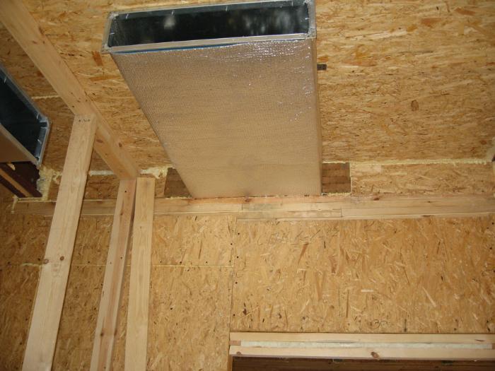 Естественная вентиляция в доме из СИП-панелей