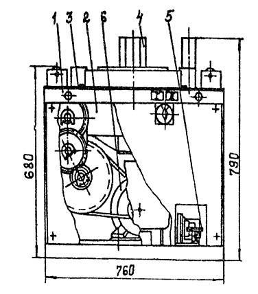 Расположение составных частей станка для гибки арматуры СГА-1