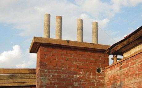 Дымоход с асбестоцементными трубами