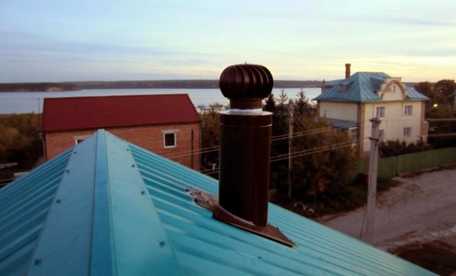 Пример правильной установки турбодефлектора