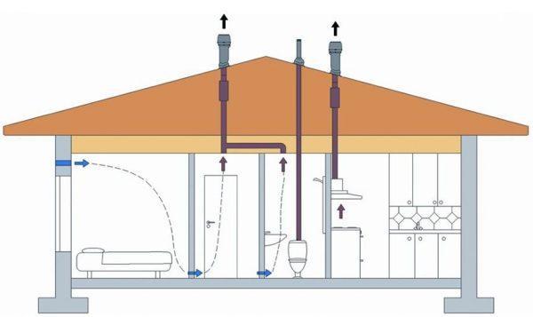 Вытяжные отверстия на крыше