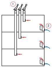 Один вход и один выход для воздуха приточно-отточной вентиляции