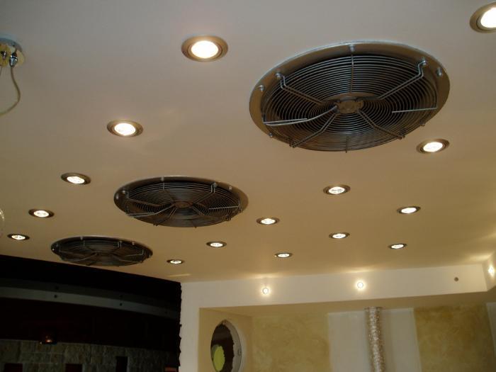 Мощная принудительная вентиляция для большого помещения