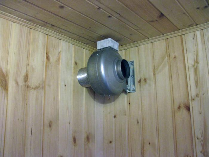 Вытяжной вентилятор из парной