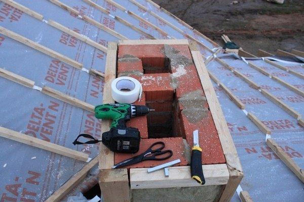 Строительство кирпичной вентиляционной шахты
