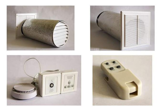 Элементы системы приточной вентиляции