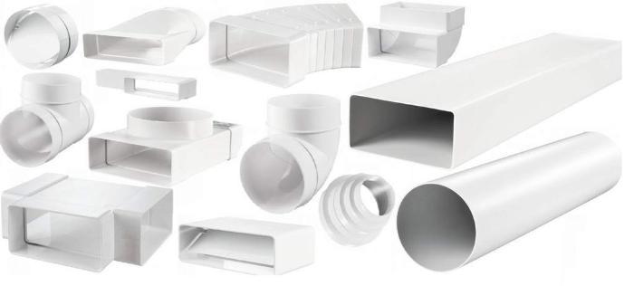 Воздушные трубы из пластика